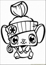 Coloring Pages Shop5 Med (Cartoons > Littlest Pet Shop) - free