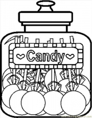 Coloring Pages Candyjar8bw (Food & Fruits > Candy) - free
