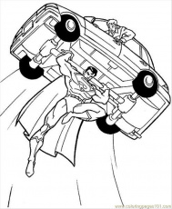 e superheroes Colouring Pages