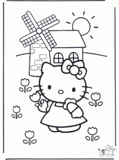 Hello Kitty Coloring Pages for Kids- Printable Coloring Book Pages