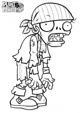 Free plants vs zombies coloring page