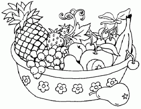 Fruit Basket Coloring Pages | Creative Coloring Pages
