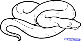 realistic snake coloring pages