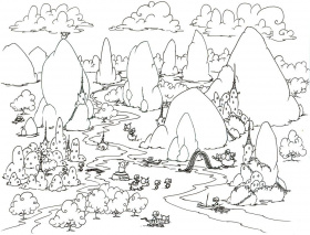 rocks coloring page