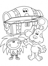Blues Found Treasure Box Blues Clues Coloring Page - TV Show