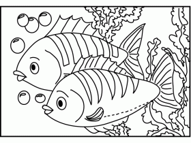Fish 2 - Fish Coloring Pages : Coloring Pages for Kids