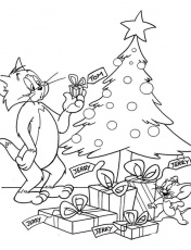Tom and Jerry Coloring Pages : Tom And Jerry Christmas Coloring