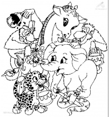 Zoo Animals Coloring Pages : Printable Coloring Book Sheet Online