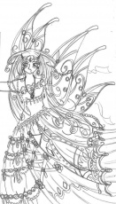 Anime Fairy Princess Coloring Pages Sketch Page