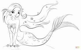 Mermaid coloring page | Free Printable Coloring Pages