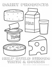 dairy coloring page