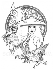 10 Free Raya and the Last Dragon Coloring Pages Printable