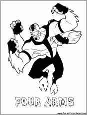 Fourarms Coloring Page