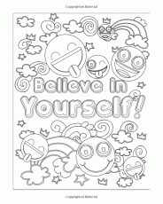 Amazon.com: Emoji Coloring Book for Girls: 50 Super Fun and Amazing  Inspirational Quotes, Cute Animals … | Love coloring pages, Emoji coloring  pages, Coloring books