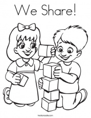 We Share Coloring Page - Twisty Noodle