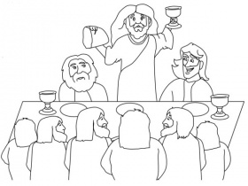 The Last Supper Coloring Page - Futpal.com