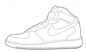 coloring ~ Nike Air Jordan Shoes Coloring Page Pages X Kb ...