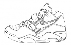 Printable Coloring Pages Nike Shoes €  Q Nightclub - Coloring Home