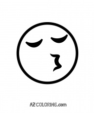 Kissing Face With Closed Eyes Emoji Coloring Page