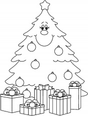 Blank Christmas Tree Coloring Sheets | Coloring Online