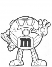 M&m Coloring Page - Coloring Home