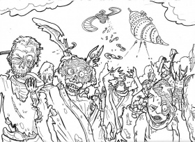 Zombie Coloring Pages and Book | UniqueColoringPages
