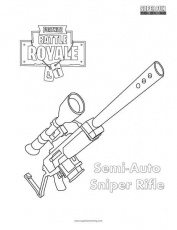 Semi-Auto Sniper Fortnite Coloring Page - Super Fun Coloring