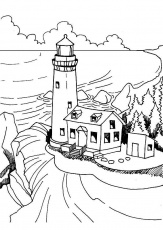 Light House coloring pages