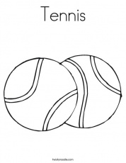 Tennis Ball coloring pages