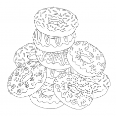 Donut Coloring Pages - Best Coloring Pages For Kids