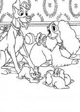 baby lady and the tramp coloring pages - coloring pages for all ... - Lady Tramp Coloring Pages