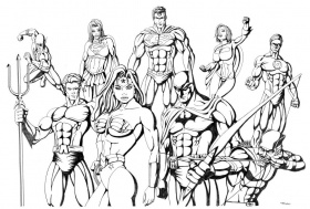 Justice League Coloring Pages 16 Pictures Colorinenet 22239