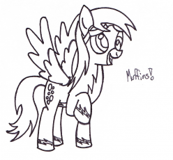 Derpy hooves holding perry the platypus by dashie so cute for Derpy hooves coloring pages