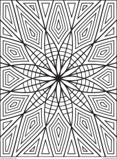 Geometric Design Coloring Pages, trippy geometric Colouring Pages ...