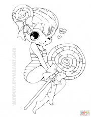 Chibi coloring pages | Free Printable Pictures