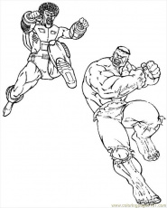 Hulk Fight Coloring Page - Free Hulk Coloring Pages : ColoringPages101.com