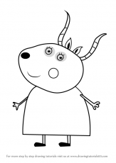 Learn How to Draw Madame Gazelle from Peppa Pig (Peppa Pig) Step by Step :  Drawing Tutorials