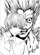 Death note free to color for kids - Death Note Kids Coloring ...