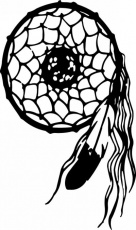 Native American Dreamcatcher Coloring Pages. Dream Catcher Tattoo ...