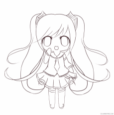 cute chibi coloring pages anime Coloring4free - Coloring4Free.com