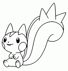 pachirisu coloring pages