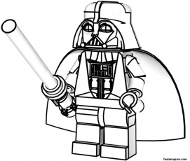 Starwars Coloring Pages Lego Star Wars Minifigures Coloring 201676