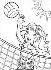 Coloring & Activity Pages: Girl Playing Beach Volleyball Coloring Page