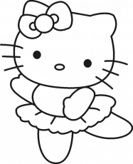 Hello Kitty Cool And Cute Coloring Page - hello kitty Coloring