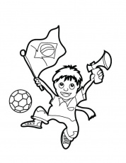 Brazil Flag 2014 Coloring Pages For Kids | Coloring Pages