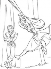 6 Animated Cartoon Disney Tangled Rapunzel Coloring Sheet