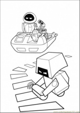 Coloring Pages Cleaning Robot Is Looking For Wall E (Cartoons