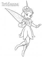 Print Iridessa Tinkerbell Coloring Page or Download Iridessa