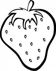 Simple fruits coloring pages