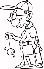 Downloadable Yoyo And Grandpa Coloring Page | Laptopezine.